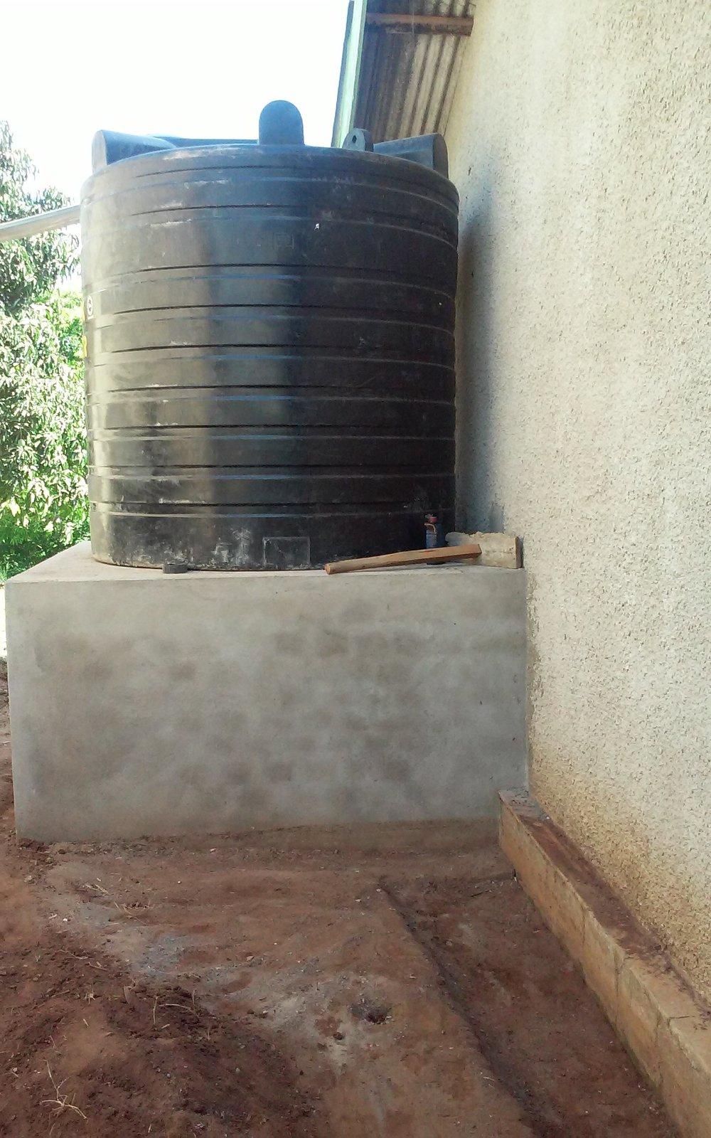 Dedicated rainwater tank
