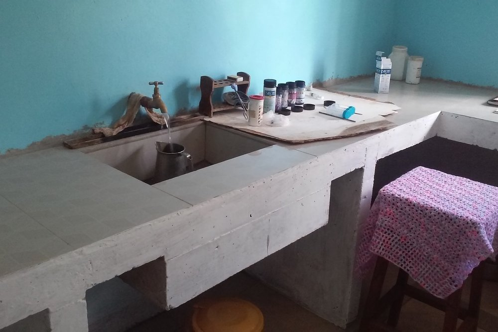 New sink and running water