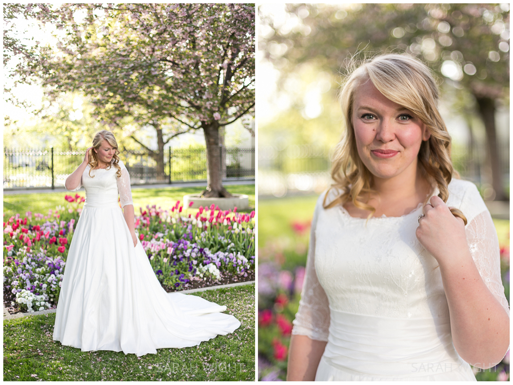 Temple Square Spring Bridal Portraits