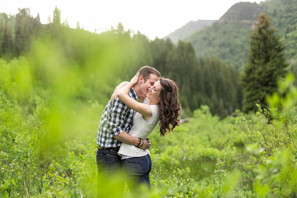Big cottonwood canyon engagement photos