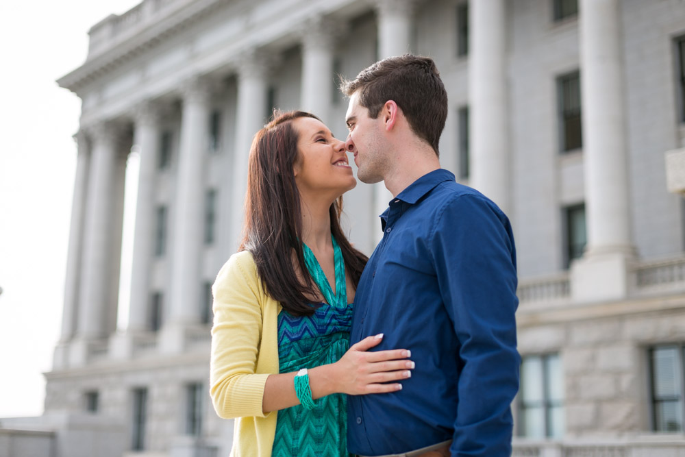 Salt Lake Utah Capitol Building Engagement Photos