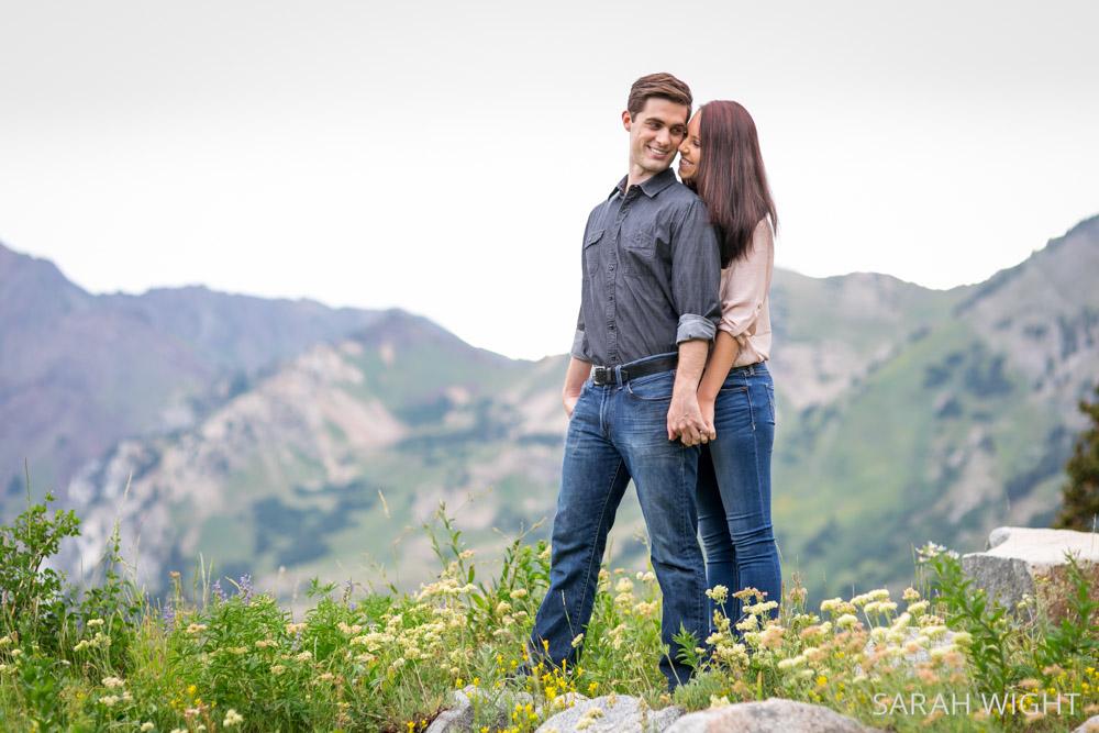 Utah Romantic Mountain Nature Engagement Photos
