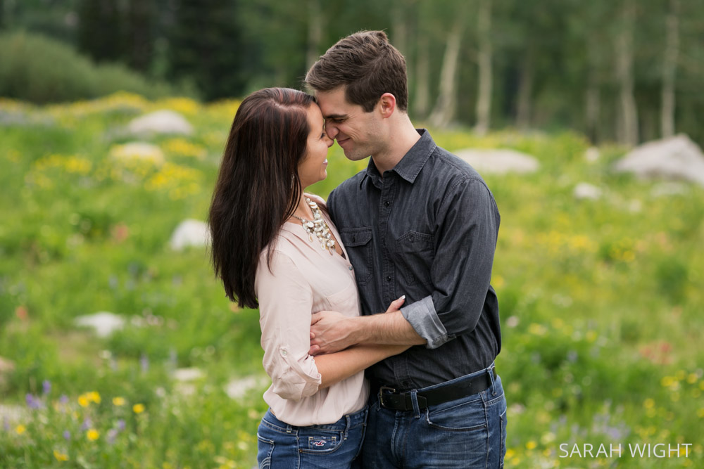 Romantic Nature Mountain Engagement Pictures