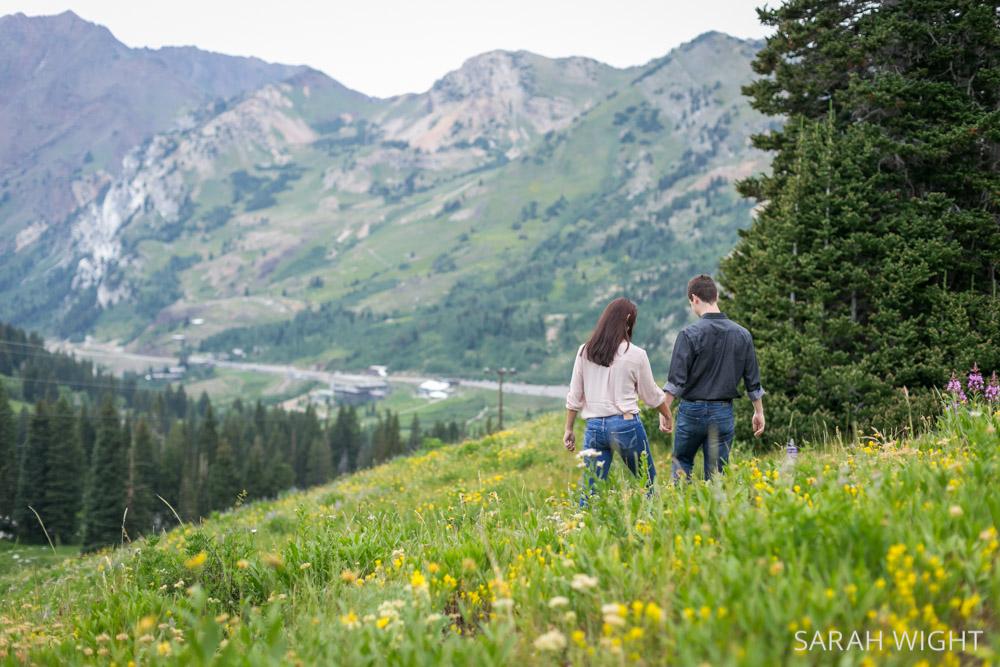 Utah mountain adventure engagement picture