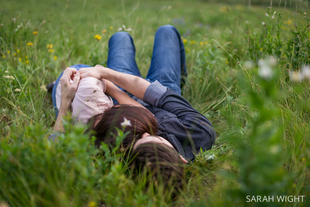 Romantic couple in love Albion Basin Engagements