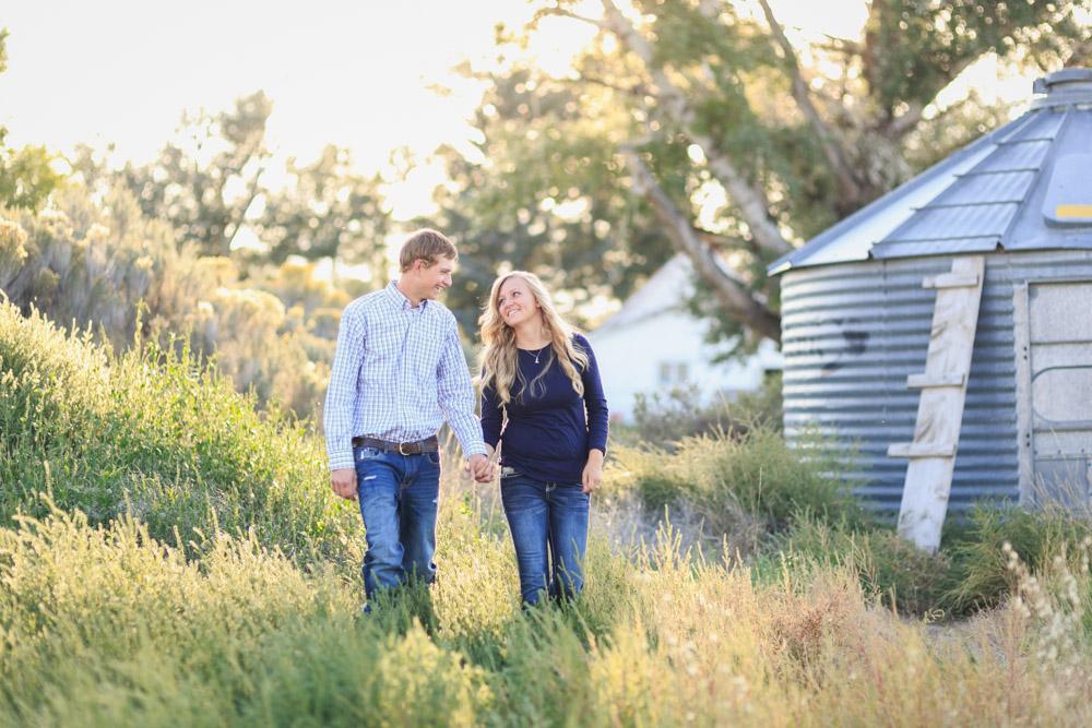 Idaho Country Romantic Farm Engagement Photo