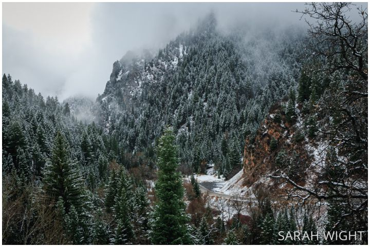 American Fork Canyon in the winter