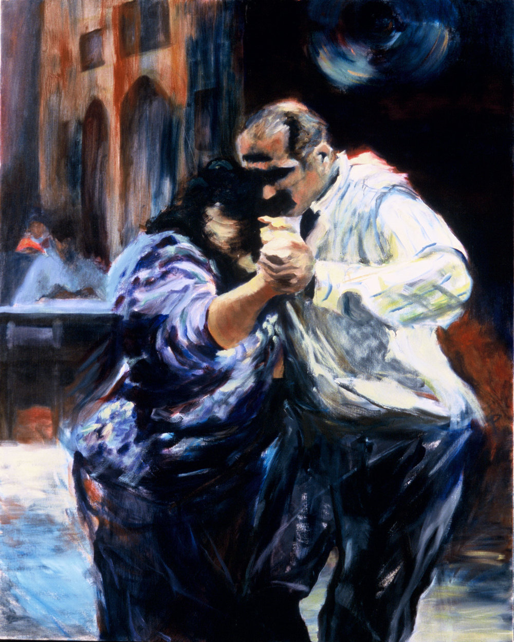 "Cafe Tango , 2003, oil canvas, 48 x 60"", SOLD"