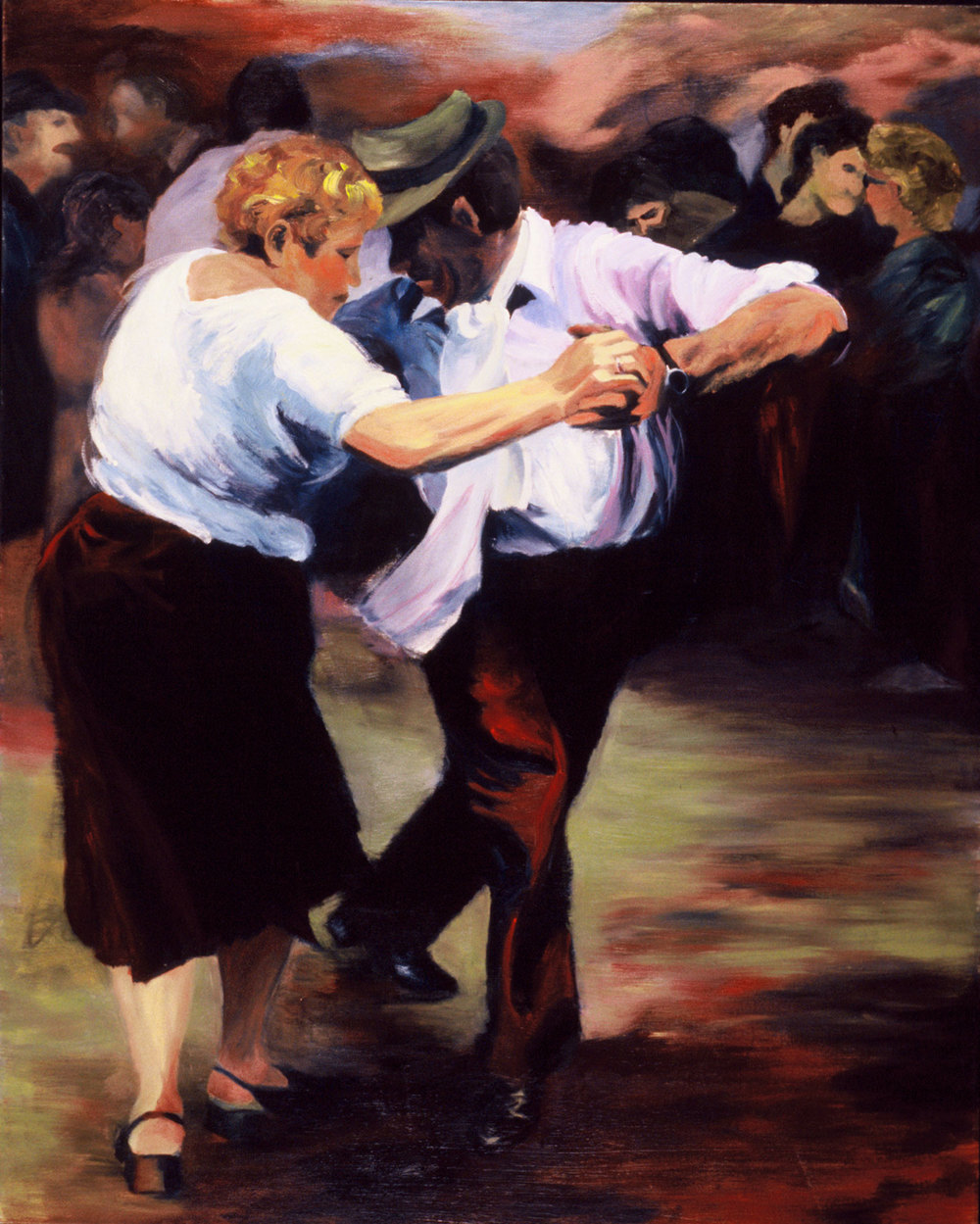 "Tango In The Streets , 2002, oil canvas, 48 x 60"", SOLD"