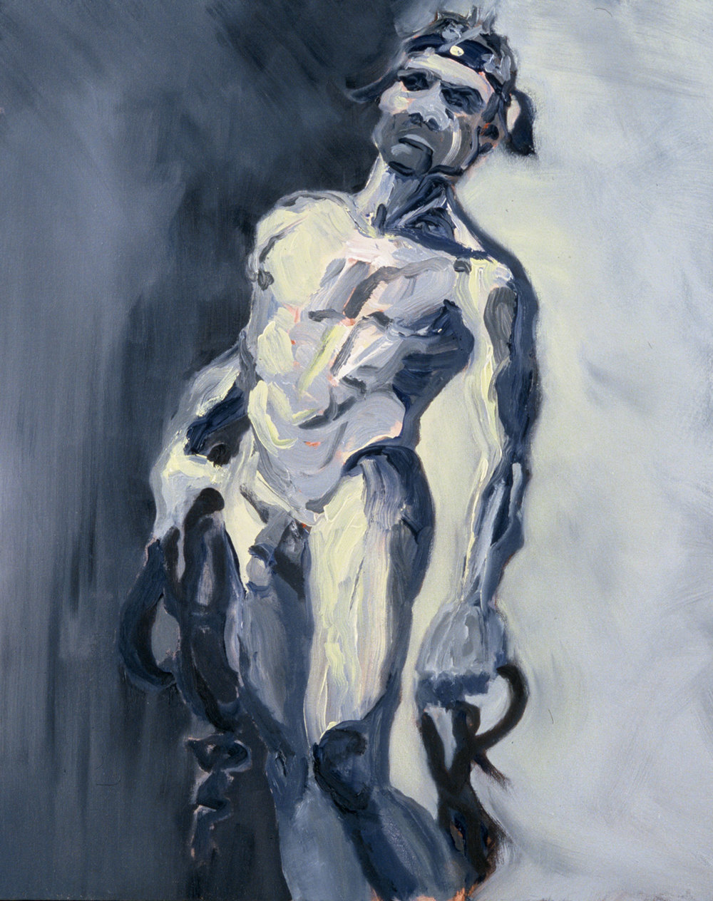 "Warrior , 2003, oil on canvas, 24 x 30"", SOLD"