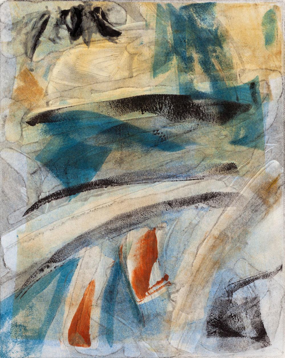 "The Mandarin , 2013, monoprint, 8 x 10"", SOLD"