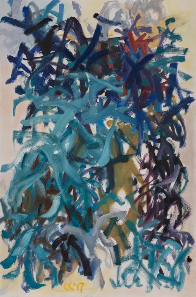 """Seaweed , 2017, oil on canvas, 24 x 36"""""""