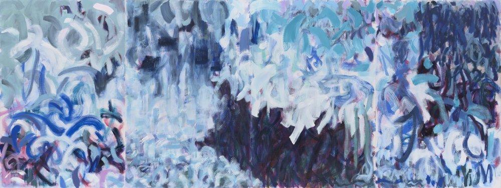 """Splash, oil on canvas, 96 x 36"""""""