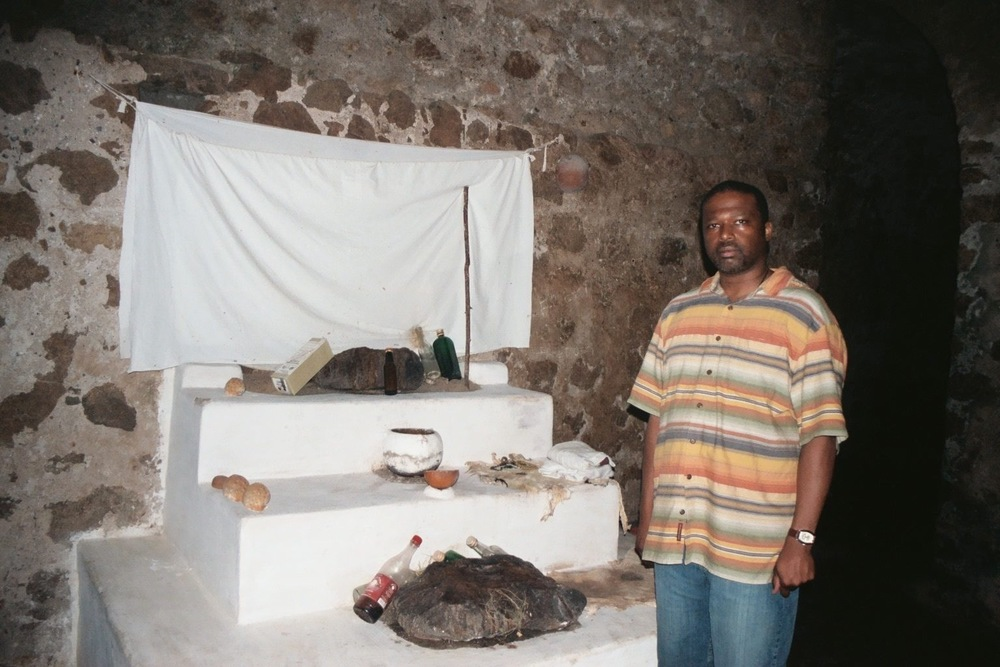 Shrine Inside Slave Castle at Cape Coast, Ghana