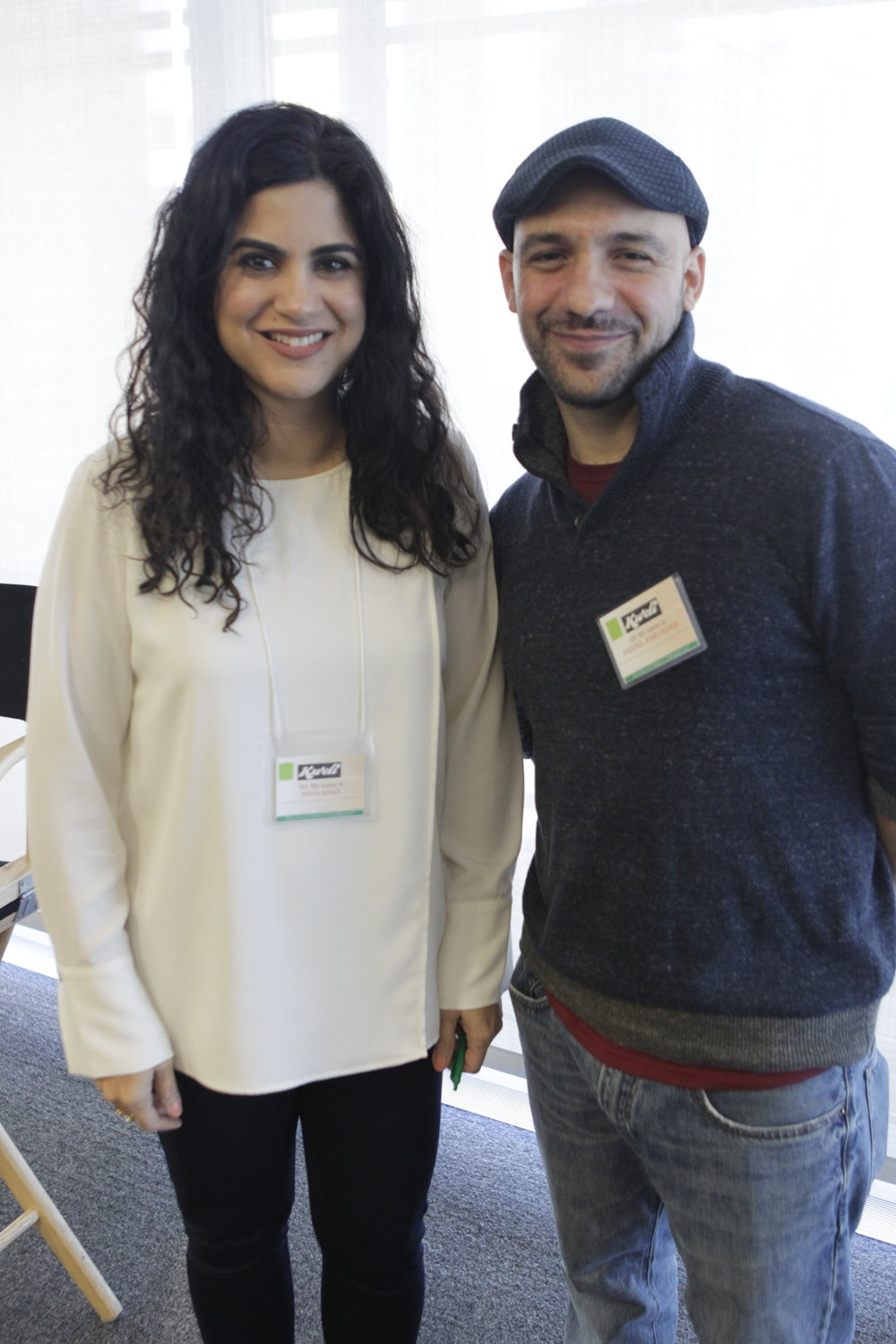 Copy of Hena Khan, author of Amina's Voice and Daniel José Older, author of Shadowshaper