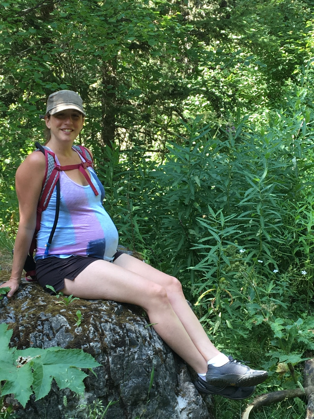 32 weeks: 3 mile hike