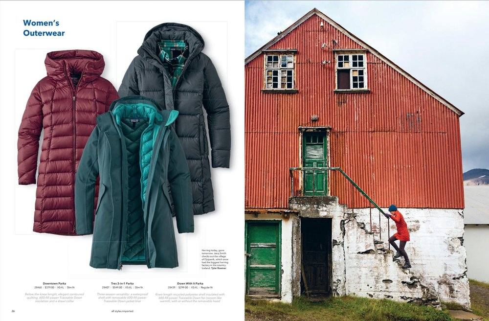 Published in Patagonia NOV 2016 catalogue, photo by Tyler Roemer