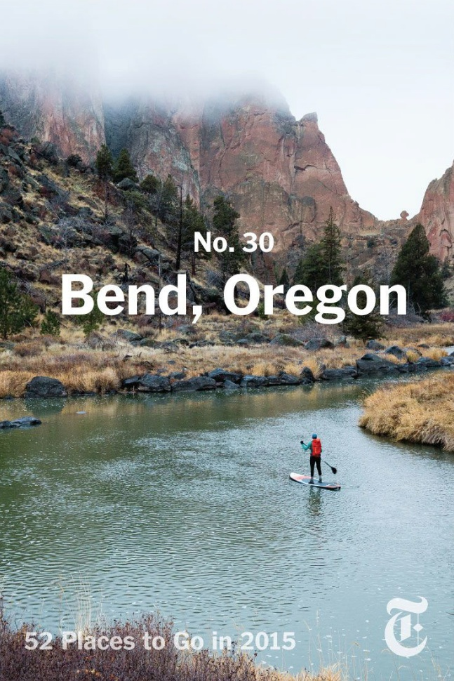 Published in the New York Times.; early morning Smith Rock SUP in the Crooked River, photo by Tyler Roemer, 2015
