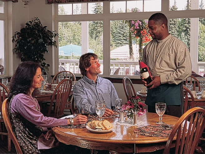 Enjoy fine dining at Chena's Alaskan Grill conveniently located at the resort on the Chena river.