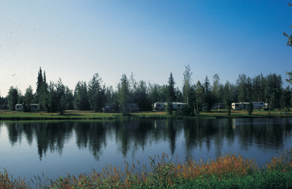 Riverfront RV Camping on the Banks of the Chena River in Fairbanks, Alaska