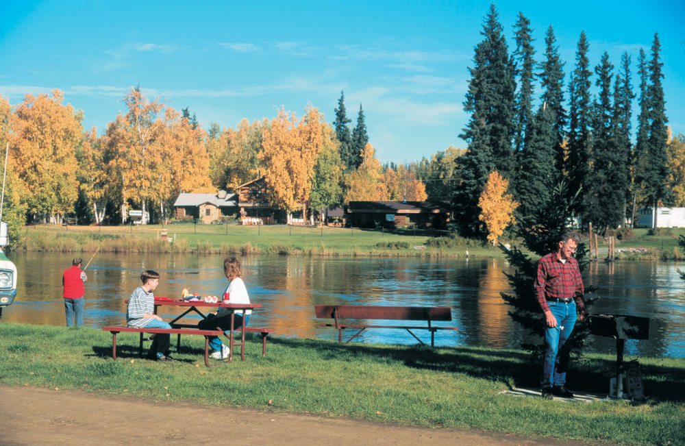 RV Camping along the Chena River in Fairbanks