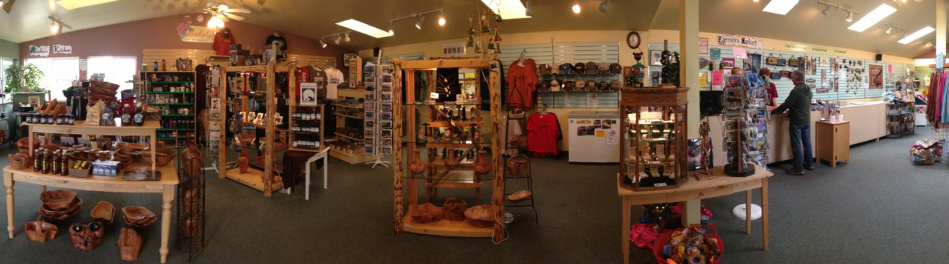 Our spacious gift shop features many Made-In-Alaska items, as well as the Alaskan novelty T-shirt that you can send home to your family and friends.