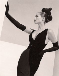 Christy Turlington in Valentino 1995 - by Herb Ritts. The original inspiration image for this shoot.