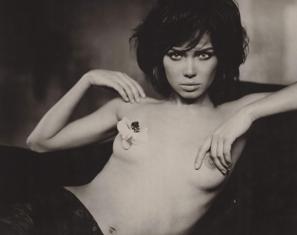 """Black Orchid"" by Marc Lagrange. On 8x10 Polaroid."