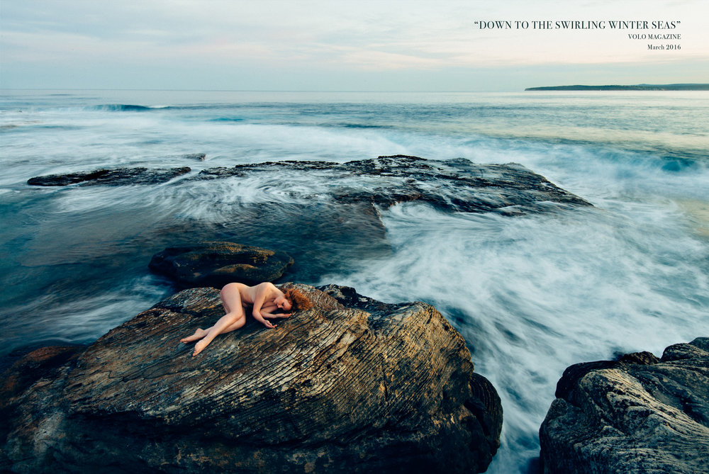 Down to the Swirling Winter Seas Where I can be me, just me and the sea... Model:  Ivory Flame   Published to  Volo Magazine #35 , March 2016