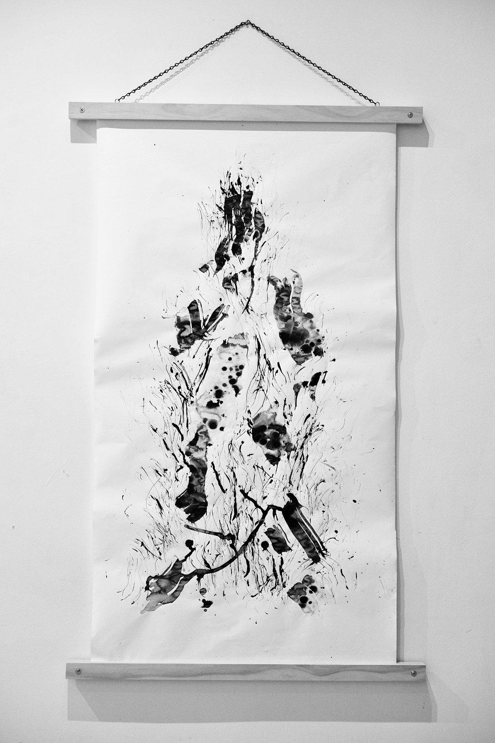 Moodscape Scroll #1 - Lauren Michelle (ink on paper)