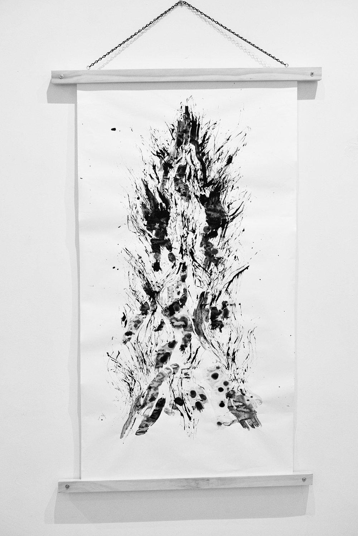 Moodscape Scroll #2- Lauren Michelle (ink on paper)