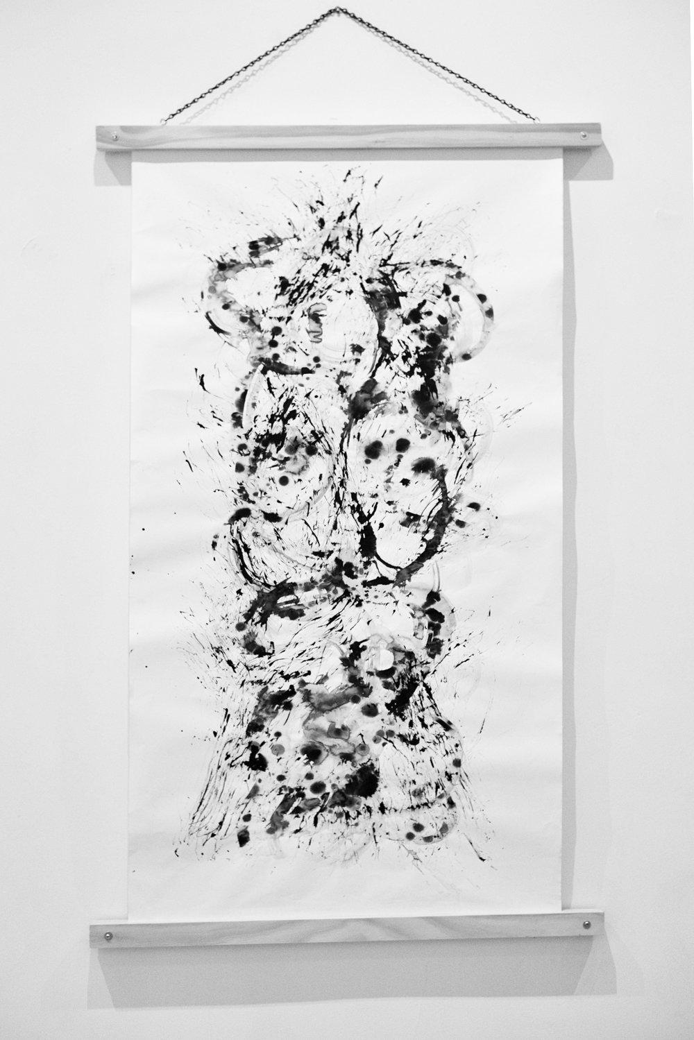 Moodscape Scroll #3- Lauren Michelle (ink on paper)