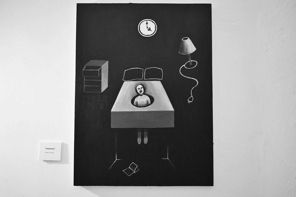 Insomnia (acrylic on board)