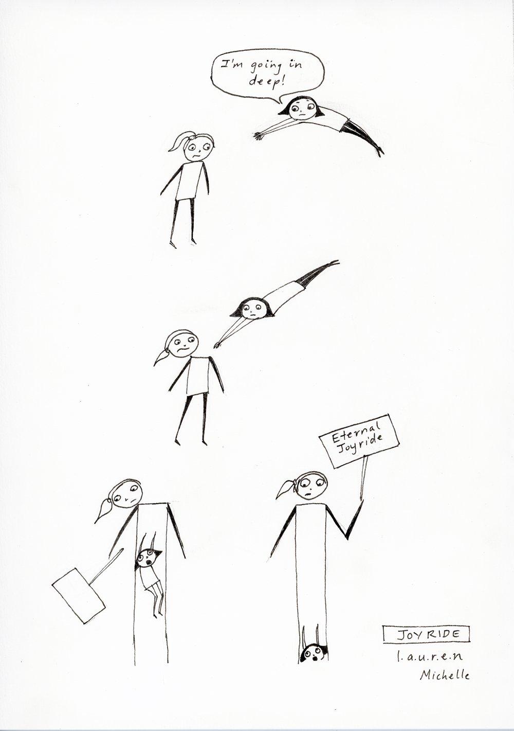 'Joy Ride' - by Lauren Michelle (ink on cotton rag)