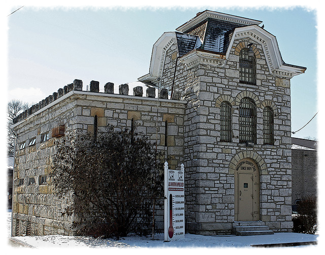 "The old ""cannonball jail"" is a favorite photo subject for tourists."