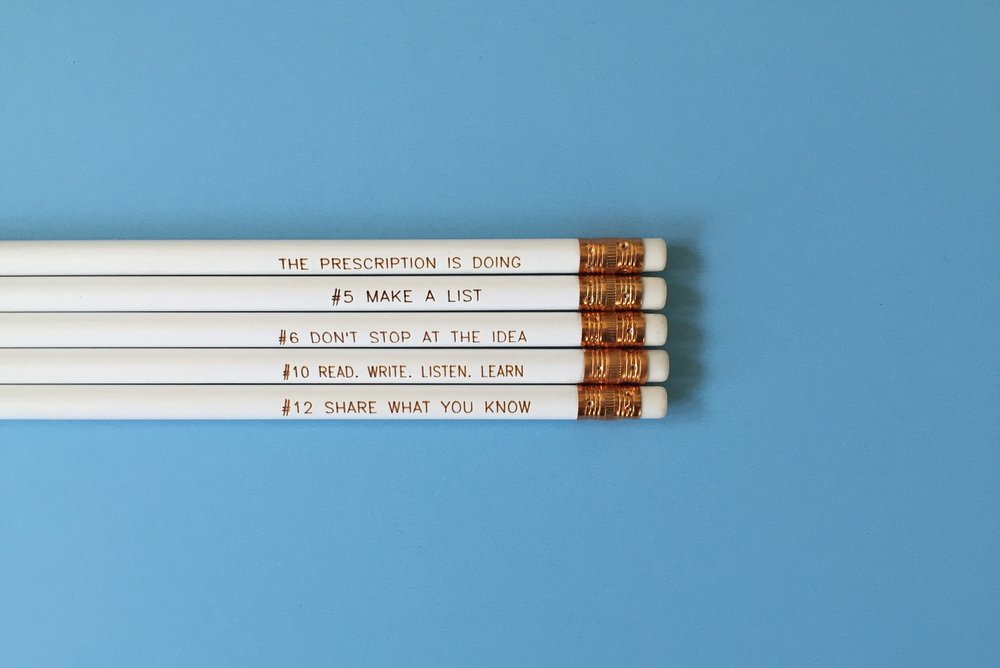12 STEP PENCILS - OK, so only four steps are represented, but they're the most important ones.