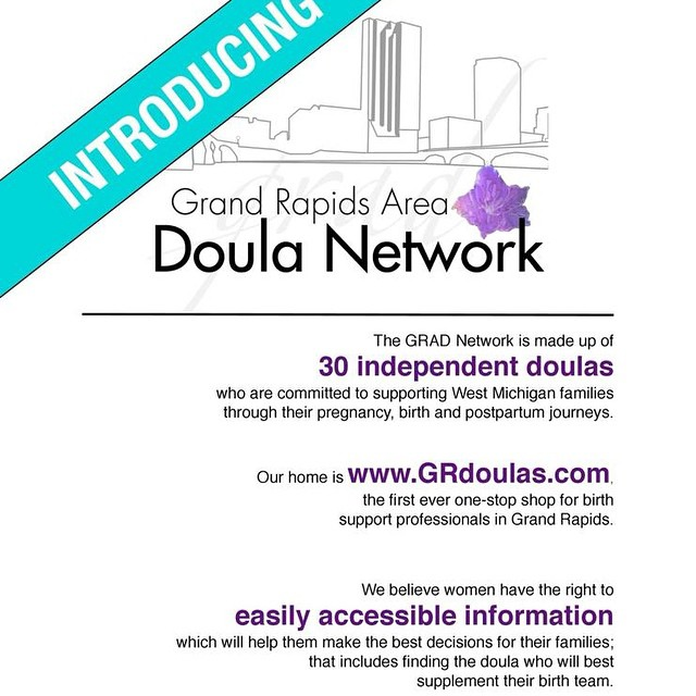 Our big Labor Day announcement!  Because Bellabirth is commited to community and #informedempowered parents, we helped work on this initiative to spread the word about doulas and help parents find one! Grdoulas.com  It's been really exciting to come up with a website name, design the website and take part in or launch video!