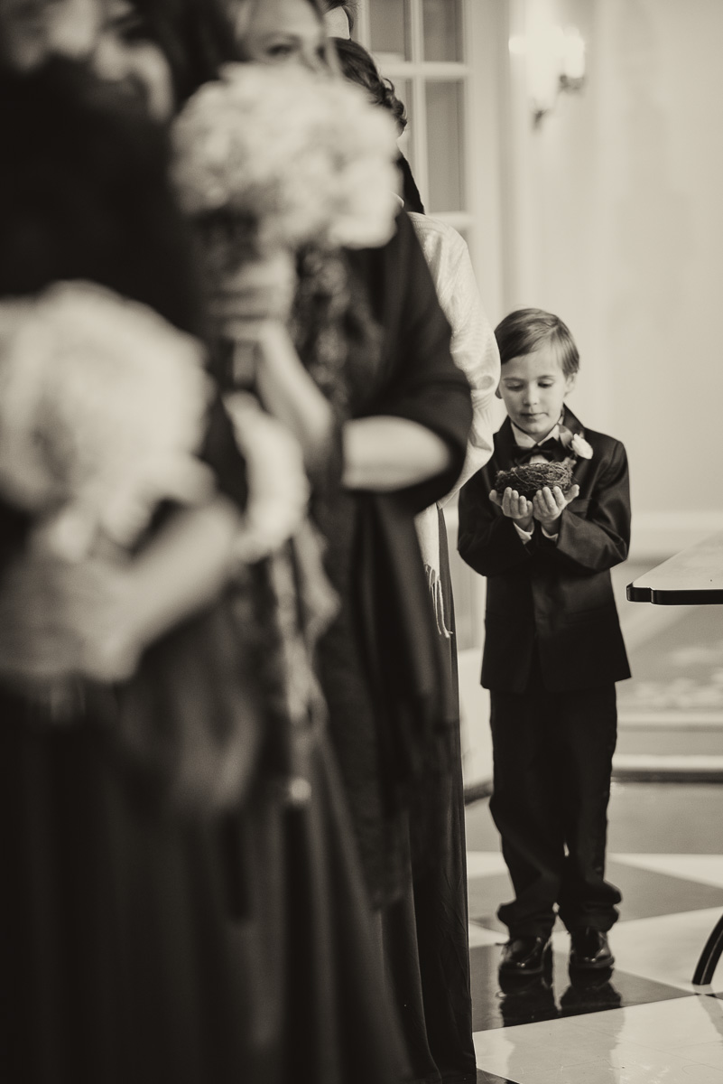 This Ring Bearer was all business... he was not going to drop that ring nest for anything!