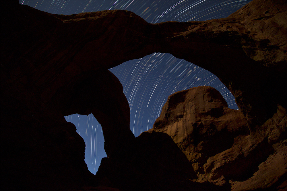 Star Lines through Double Arch