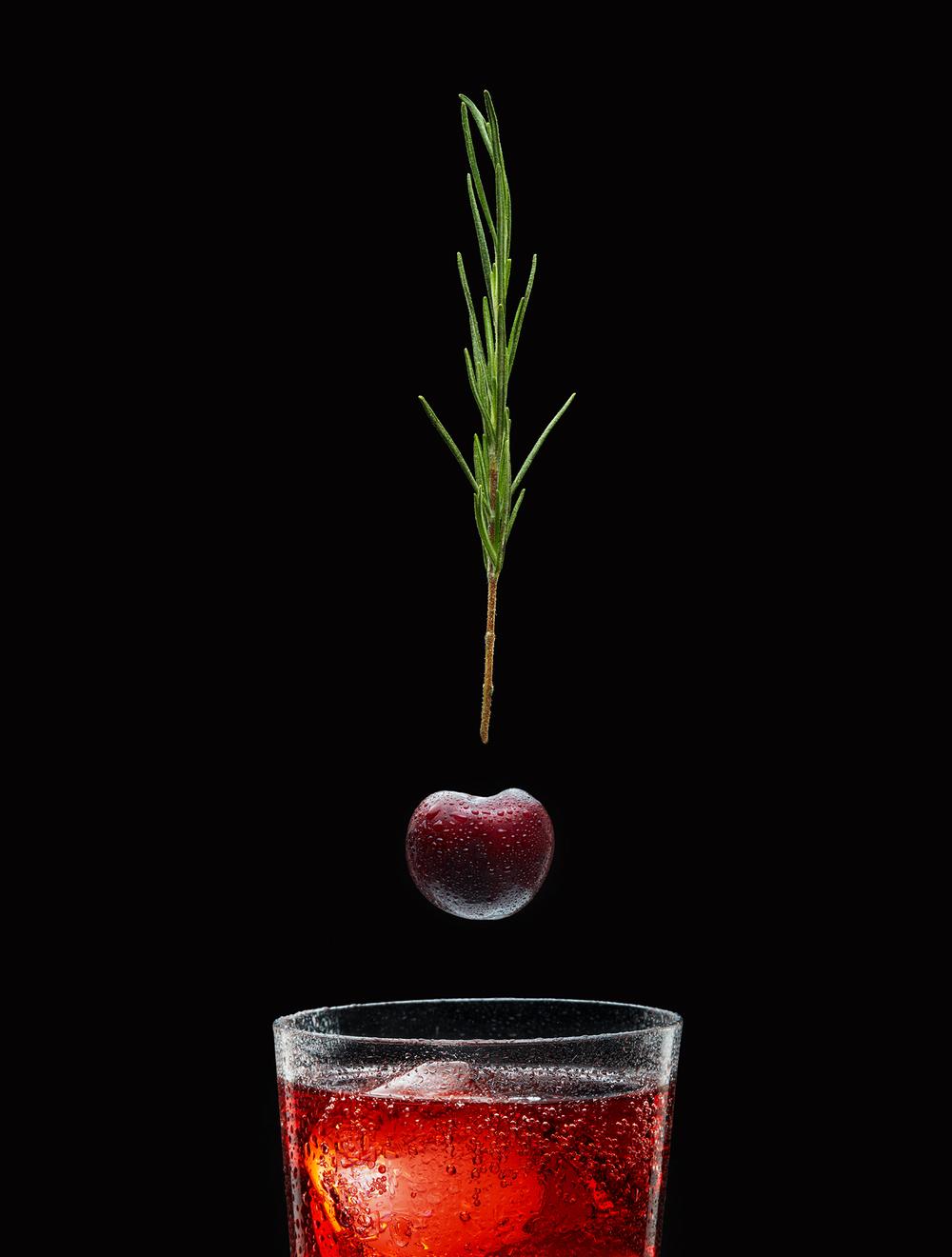Black Cherry Rosemary Soda