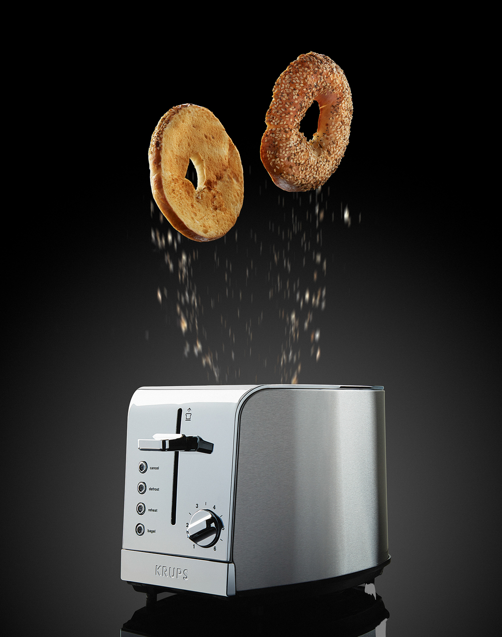 Everything Bagels from a Krups Toaster