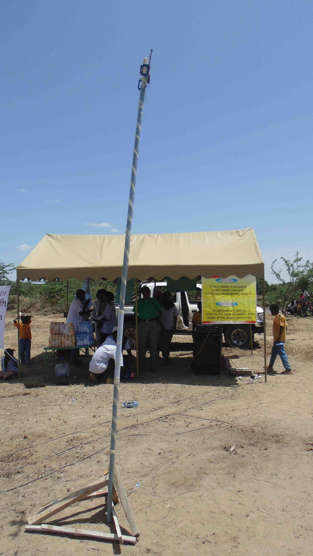 Improvised broadcasting to prove the value of radio to promote peace, health and social development in Tana River