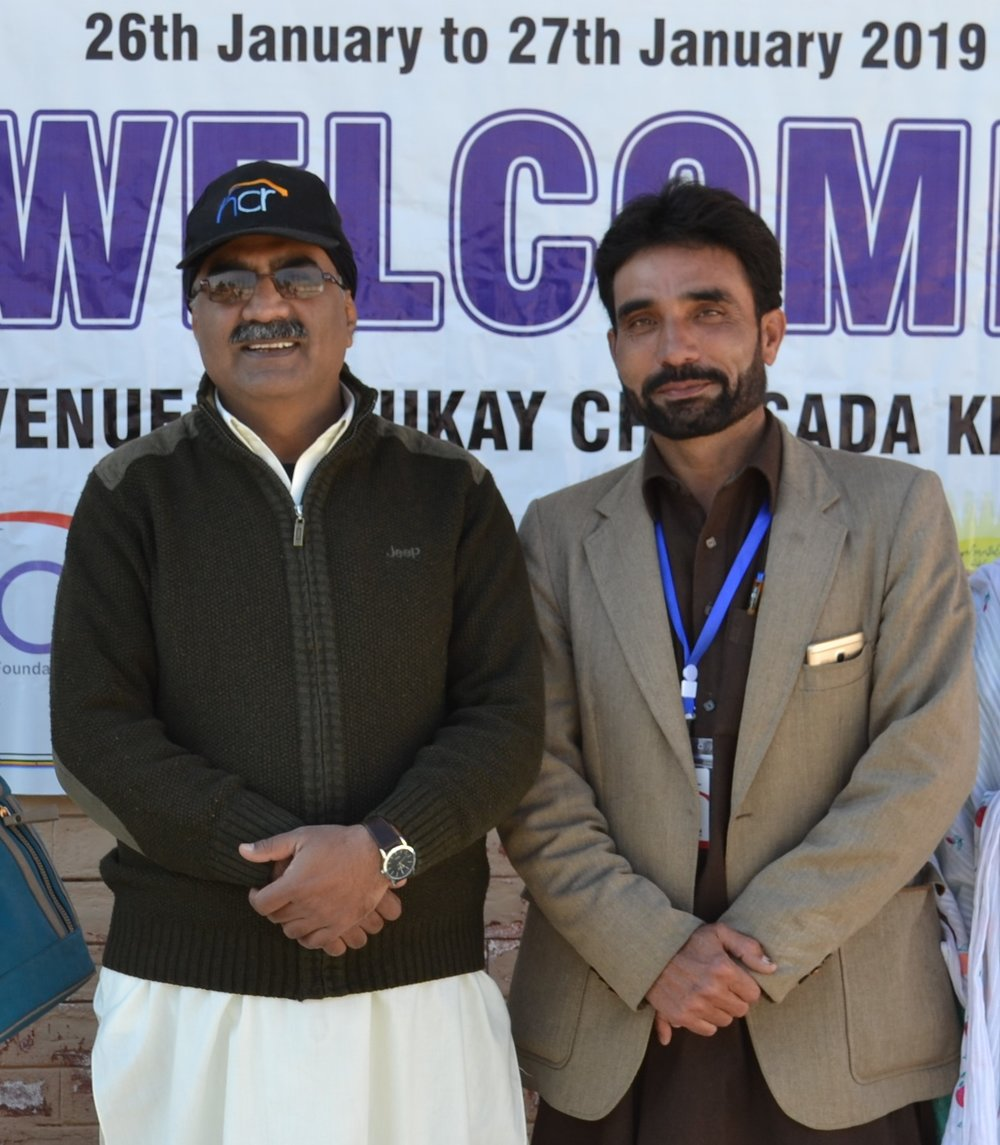 Mr Hazeen Latif and Naway Saher project coordinator, Pakistan, Jan 2019 (HCR Pakistan)