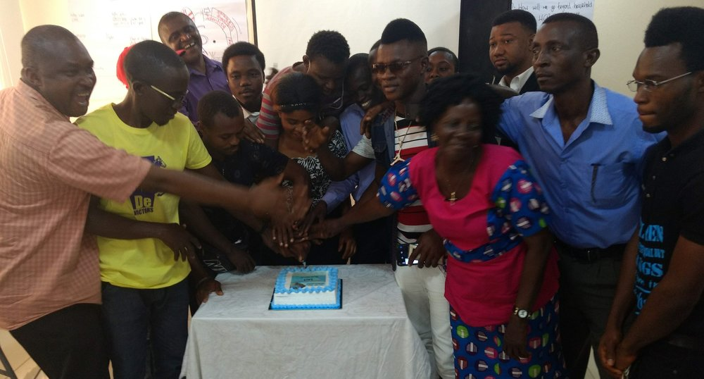 BBN and community volunteers celebrate 3 years of AVS, Freetown, Jan 2019. (HCR UK, 2019)