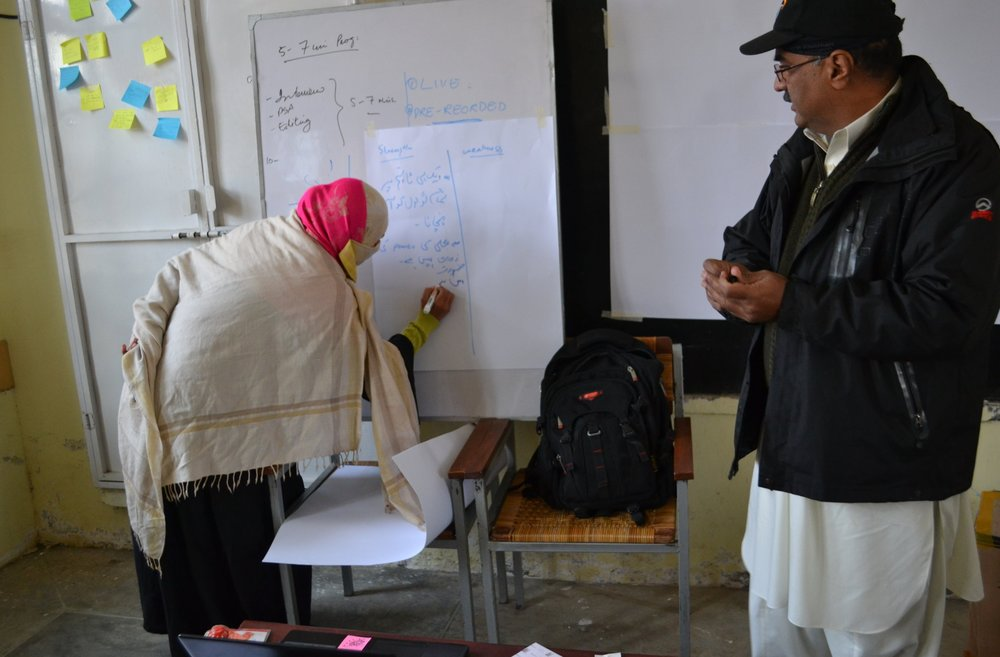 Naway Saher - Charsadda, Pakistan - In north west Pakistan, HCR Pakistan has trained community volunteers to produce community centred radio programmes. The programmes tackle issues raised by community members, and encourage everybody to be involved in dialogue. Naway Saher is breaking down barriers between community groups that were traditionally separated by cultural and religious factors. This project, which started in response to floods in 2010, combines on-air and off-air activities to promote health, dialogue and inclusion.Read More