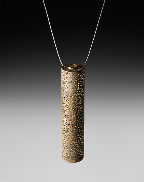 Perforated Cylinder Necklace