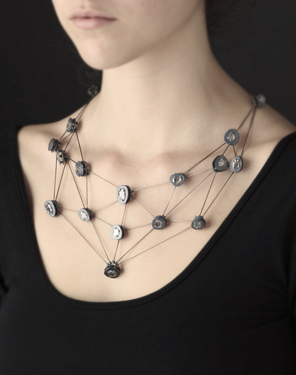 Diamond Web Necklace
