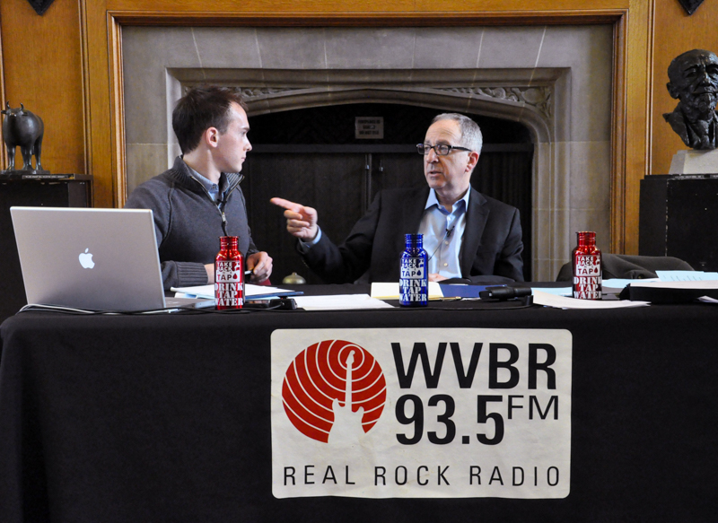 Interviewing Cornell President David Skorton at a broadcast and live-streamed town hall