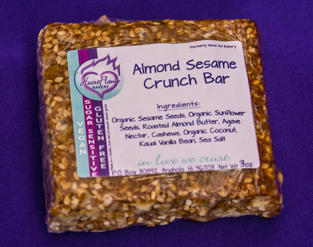 The absolutely addictive Almond Sesame Crunch Bar. It should be classified as a controlled substance.