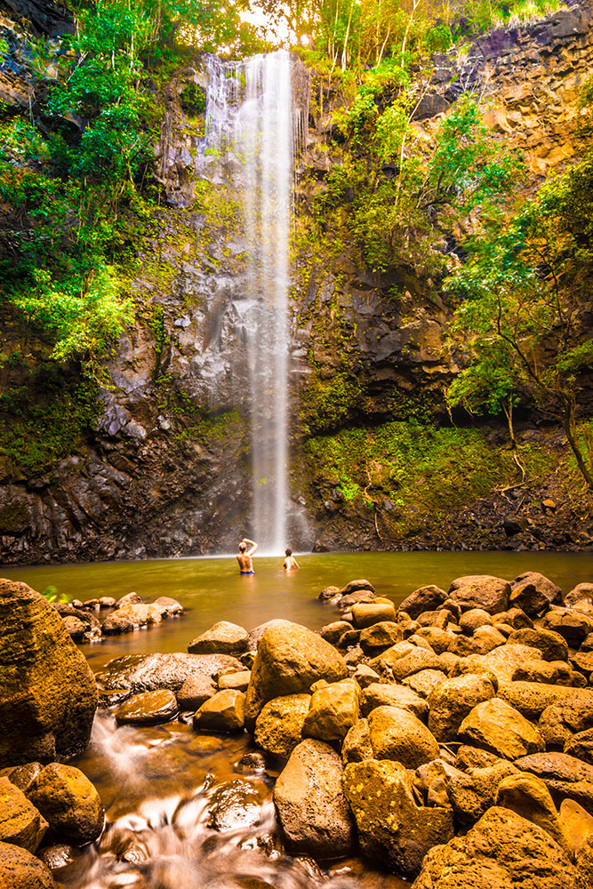 Uluwehi Falls (aka Secret Falls), Kauai